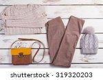 winter clothes. set of...   Shutterstock . vector #319320203