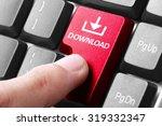 downloading. gesture of finger...   Shutterstock . vector #319332347