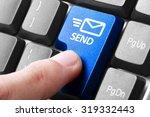 sending email. gesture of...