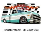 vector cartoon low rider....