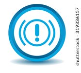 alert sign icon  blue  3d ...