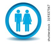 man woman icon  blue  3d ...