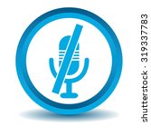 muted microphone icon  blue  3d ...