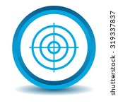 aiming mark icon  blue  3d ...