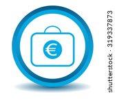 euro bag icon  blue  3d ...