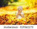 Portrait Of Happy Little Baby...