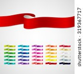 vector ribbons set | Shutterstock .eps vector #319367717