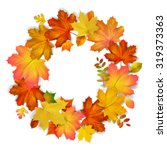 Isolated  Wreath Of Autumn...