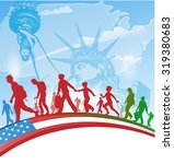 american people immigration on  ... | Shutterstock .eps vector #319380683