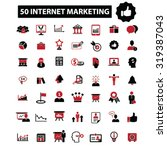internet marketing icons | Shutterstock .eps vector #319387043