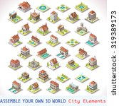 isometric icon city building... | Shutterstock . vector #319389173