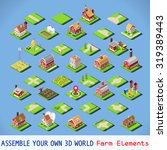 isometric building farm... | Shutterstock . vector #319389443