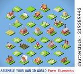 isometric building farm... | Shutterstock . vector #319389443