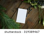 florist workplace  visit card... | Shutterstock . vector #319389467