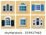 collection of retro windows on... | Shutterstock .eps vector #319417463
