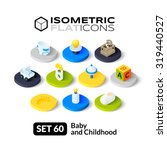 isometric flat icons  3d... | Shutterstock .eps vector #319440527