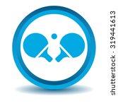 table tennis icon  blue  3d ...