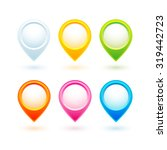a collection of 6 colorful... | Shutterstock .eps vector #319442723