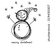 Vector Christmas Doodle Funny...