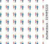 man and woman icon seamless...   Shutterstock . vector #319495223