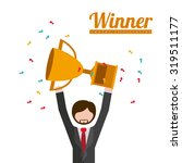 winner concept with icons about ... | Shutterstock .eps vector #319511177