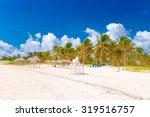 Santa Lucia Beach On A Sunny...