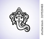 hand drawn god ganesh indian... | Shutterstock .eps vector #319520483