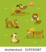 dogs in cartoon style. dog...   Shutterstock .eps vector #319550387
