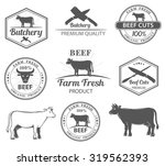 logos for butcher shop and... | Shutterstock .eps vector #319562393