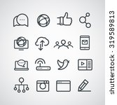different social media icons... | Shutterstock .eps vector #319589813