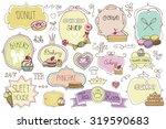 bakery vintage badges labels... | Shutterstock .eps vector #319590683