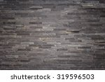Pattern Of Black Slate Wall...