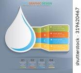 water drop info graphic design... | Shutterstock .eps vector #319620467