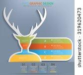 deer info graphic design clean... | Shutterstock .eps vector #319620473