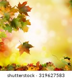 autumn falling leaves background | Shutterstock . vector #319627583