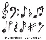 Musical Notes Vector Hand Drawn