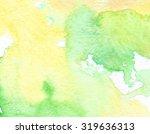 Yellow Green White Watercolor...