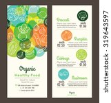 organic healthy food with... | Shutterstock .eps vector #319643597