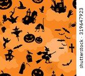 halloween seamless patterns.... | Shutterstock .eps vector #319647923