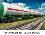 white railroad tank cars for... | Shutterstock . vector #319650407