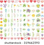 set of wedding graphic set ... | Shutterstock .eps vector #319662593