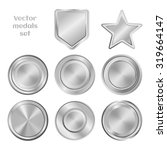 silver or metal medals set.... | Shutterstock .eps vector #319664147
