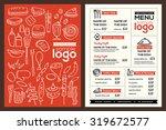 modern restaurant menu cover...   Shutterstock .eps vector #319672577