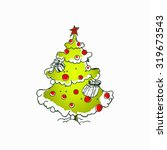 christmas tree vector... | Shutterstock .eps vector #319673543