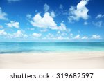 sand of beach caribbean sea | Shutterstock . vector #319682597