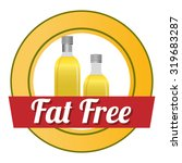 fat free concept with healthy...   Shutterstock .eps vector #319683287