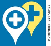hospital map markers vector... | Shutterstock .eps vector #319720433