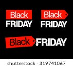 black friday tags flat | Shutterstock .eps vector #319741067