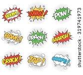 collection of nine wording... | Shutterstock .eps vector #319741973