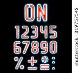 double neon font white outside... | Shutterstock .eps vector #319757543